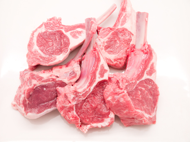 NZ産ラム骨付きロース肉