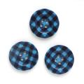 ギンガムチェック 2 【25mm】×3個セット 青×紺(24)
