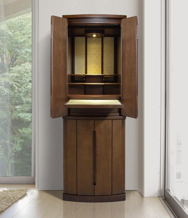 モダン仏壇 [イング]  15-45号 ポプラ材 = 緞子がおしゃれな国産高品質仏壇