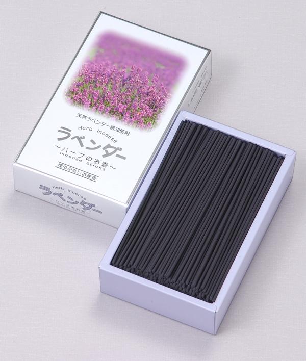 [ハーブのお香]ラベンダー(大) = 天然精油を練りこんだ、煙が少ないほのかな香りのお線香 送料無料