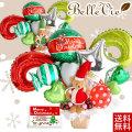 【バルーン電報】クリスマスサンタテディー アレンジバルーン電報