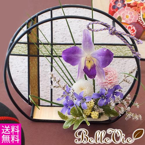 プリザーブドフラワー 紫彩満月(しさいまんげつ)