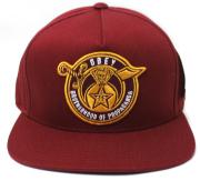 OBEY BROTHERHOOD スナップバック CAP バーガンディ