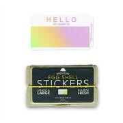 ''EGGSHELL STICKER'' Hello My Name is Hologram Blanks 50������