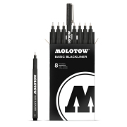MOLOTOW Basic Blackliner コンプリーセット 0.05mm〜1.0mmまでの8本セット