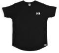 """101apparel  """"刺しゅうLOGO"""" LONG LINE CURVE Teeシャツ ブラック"""