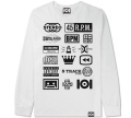 """101apparel  """"STEREO"""" ダウンロードカード付き  L/STシャツ ホワイト"""