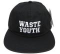 OBEY WASTE YOUTH 6パネル ストラップバック CAP ブラック