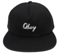 OBEY NEEDLELOGO スナップバック CAP ブラック