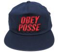 OBEY 3D POSSE ししゅう スナップバック CAP ネイビー