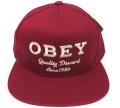 OBEY DISCORD スナップバック CAP カーディナル