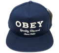 OBEY DISCORD スナップバック CAP ネイビー
