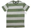OBEY  ''MACARTHUR'' ボーダー ポケット Tシャツ グリーン