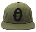 OBEY FIELDERS 2 CAP レザーストラップバック CAP オリーブ