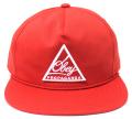 OBEY NEW FEDERATION スナップバック CAP レッド