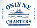 ONLY NY ''CHARTERS'' ステッカー ホワイト