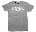 "HEKTIK ""UTOPIA ENDLESS INTERRAIL"" Tシャツ ヘザーグレー"