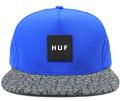 HUF  ''QUAKE REFLECTIVE '' ストラップバックCAP  ブルー