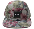 HUF  '' HAWAIIAN OXFORD VOLLEY CAP '' 5パネルCAP ブラック