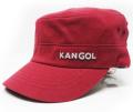 Kangol コットン ツイル ARMY CAP レッド