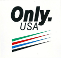 ONLY NY ''Only.USA'' ステッカー ホワイト