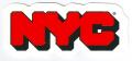ONLY NY ''BLOCK LOGO'' ステッカー レッド