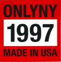 ONLY NY ''1997'' ステッカー レッド