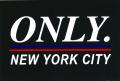 ONLY NY ''LOGO NYC'' ステッカー ブラック