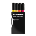 MOLOTOW Basic Sketcherセット1 メインキット(1.5mm,6.0mm)12本セット