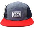 Chuck originals ''Chip'' シャンブレー5パネルCAP レッド
