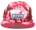 Chuck originals ''DYE TRYING'' 5パネルCAP レッド