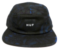 HUF  ''OVERDYED FLORAL VOLLEY'' 5パネルCAP ブラック