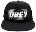 OBEY BRICKWALL スナップバック CAP ブラック