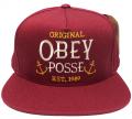 OBEY MARITIME スナップバック CAP マルーン