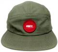 OBEY サークルパッチ 5パネル CAP オリーブ