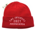 OBEY INFAMOUS  ビーニー レッド