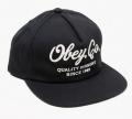 OBEY QUALITY DISSENT スナップバック CAP ブラック