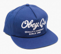 OBEY QUALITY DISSENT スナップバック CAP ネイビー