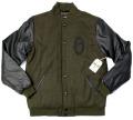 OBEY ''O''Varsity ジャケット オリーブ/ブラック