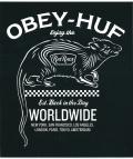 OBEY X HUF   ''RAT RACE'' ステッカー ブラック