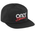 ONLY NY ''Rally Logo'' ストラップバックキャップ ブラック