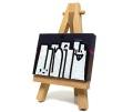 VERYONE 直筆ミニキャンバス サイズ(5cm×7cm) イーゼル付き 06