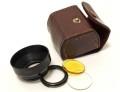 メーカー不明 φ32mm カ ブセ式 フード + 黄・UV フィルターセット