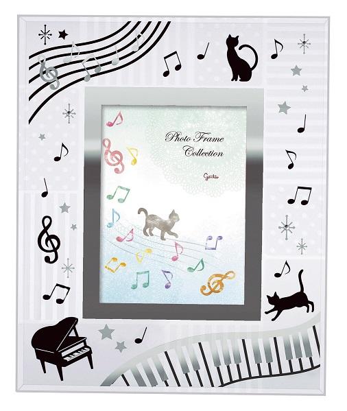 3D フォトフレーム ☆※お取り寄せ商品 【音楽雑貨 音符・ピアノモチーフ】ト音記号 ピアノ雑貨