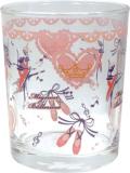 ♪バレエ柄のキュートなグラス♪pointeグラス♪バレエ柄 ピンク♪この商品はお取り寄せ商品です♪音符 ピアノ 楽器 音楽雑貨 吉澤