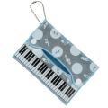 Piano line 反射ポケッティケース ブルー  ※お取り寄せ商品 【音楽雑貨 音符・ピアノモチーフ】ト音記号 ピアノ雑貨
