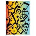 アートクリアファイル 音符記号 ※お取り寄せ商品 【音楽雑貨 音符・ピアノモチーフ】ト音記号 ピアノ雑貨