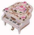 【ミニピアノ型オルゴール♪】 ホワイト♪この商品はお取り寄せ商品です♪【プレゼントに最適♪】 バレエ発表会 記念品に最適