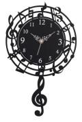 音符振り子時計 ☆※お取り寄せ商品 【音楽雑貨 音符・ピアノモチーフ】ト音記号 ピアノ雑貨
