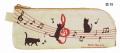 ペンポーチ ト音記号 ※お取り寄せ商品 【音楽雑貨 音符・ピアノモチーフ】ト音記号 ピアノ雑貨